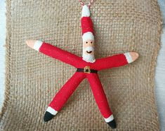 Snowman Ornament Starfish Ornament Beach by MermaidStyles on Etsy