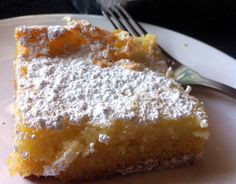 Mmmmm...St. Louis...Old Fashioned St. Louis Gooey Butter Cake - The cake was first made by accident in the 1930s by a St. Louis-area German American baker who was trying to make regular cake batter but reversed the proportions of sugar and flour. Hence, the Gooey Butter Cake was born!!