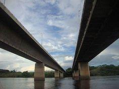 Foto de Euroden SL. #Puente sobre el río #Caroní Venezuela. Primer puente empujado de hormigón pretensado,1963. Leonhardt y Baur Vía Twitter @vyepesp