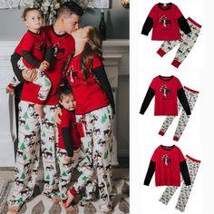 24709d78be08 XMAS Family Matching Christmas Pajamas Set Womens Mens Kids Sleepwear  Nightwear #Unbranded #PajamaSets #