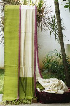 Lakshmi Handwoven Ikkat Tussar Silk Sari