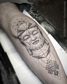 Tattoo artist William Marin thin black tattoo , graphic, linework, minimalism | Brazil Buddha Tattoo Design, Shiva Tattoo Design, Wolf Tattoo Sleeve, Sleeve Tattoos, Feather Tattoos, Forearm Tattoos, Bird Tattoos, Trendy Tattoos, Tattoos For Guys
