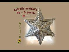 Estrellas navideñas, quilling con revistas- Christmas stars, quilling magazines - YouTube