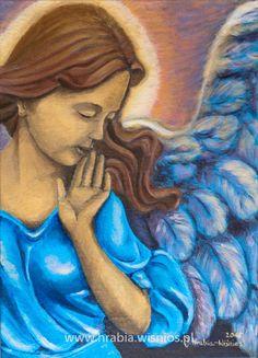 Anioł Stróż-J.Hrabia-Wiśnios Guardian Anngel, blue, face