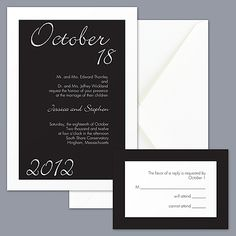 Central Park Style - Black and White Wedding Invitation