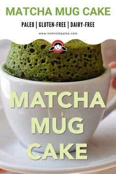 Matcha Dessert, Matcha Cake, Mug Recipes, Paleo Recipes, Cooking Recipes, Green Tea Recipes, Mug Cake Microwave, Vegan Dessert Recipes, Sponge Cake