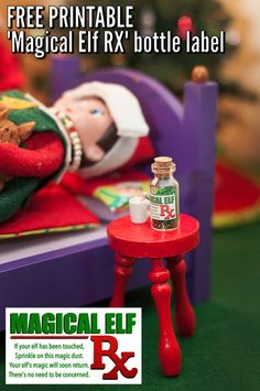 Elf on the Shelf Idea & Free Printable: The Sick, Touched Elf.