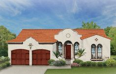 ePlans Spanish House Plan – Grand Entrance and Open Kitchen– 1532 Square Feet and 3 Bedrooms from ePlans – House Plan Code HWEPL76253