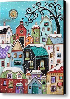 Winter City Canvas Print / Canvas Art By Karla Gerard