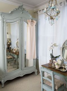 - Woman And Home -  Painted Armoire + Dresser