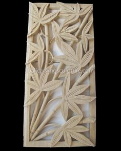 Bamboo Bali Wood Relief Carving