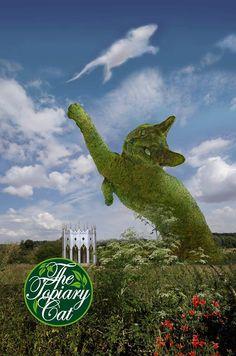 The Topiary Cat by Rich Saunders Topiary Garden, Garden Art, Topiaries, Beautiful Wallpaper Hd, Cat Statue, Arte Popular, Flower Show, Old Pictures, Cat Art