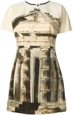 Dolce  and  Gabbana  Temple Print Dress @Lyst