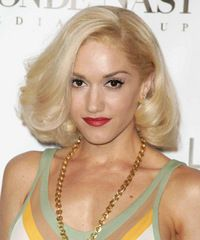 Gwen Stefani Medium Straight Formal Hairstyle - New Site Formal Hairstyles, Curled Hairstyles, Straight Hairstyles, Gwen Stefani Hair, Long Face Shapes, Large Curls, New Hair Do, Damp Hair Styles, Hair Images