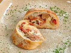 Get this all-star, easy-to-follow Stromboli recipe from Emeril Lagasse Salami Pizza, Bologna, Calzone, Stromboli Recipe, Stromboli Food, Dough Recipe, Crust Recipe, Emeril Live, Pizza Dough