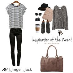 Inspiration of the Week with Jinger Jack Geneva in Waxy Brown! Long Drive, Geneva, Travel Bags, Leather Bag, Ootd, Purses, Wallet, Brown, Winter