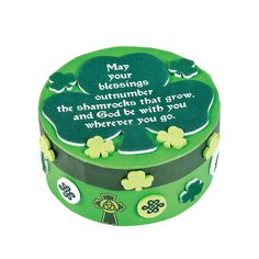 St. Patrick's Day Prayer Box Craft Kit - OrientalTrading.com