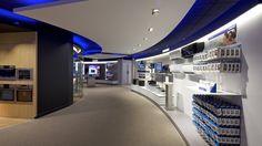 Réalisation du Showroom Retail Innovation Center Samsung : www.drworks.fr