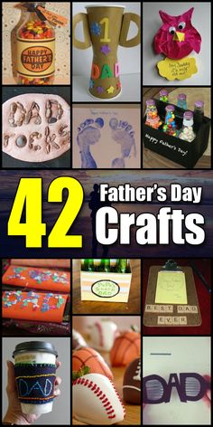 42 Father's Day Craft Ideas - Craft Fiesta #FathersDay #FathersDayCrafts