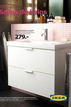 meuble lavabo tiroirs euros x cm
