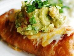 Beef Chimichanga With Guacamole Recipe