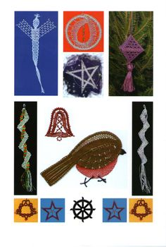 More pictures from our Christmas Decorations Pattern book £6.00 + shipping - Not to be reprinted. As at December 2015 there are fewer than 10 copies left for sale.  Contact hollies@laceguild.org to buy one.