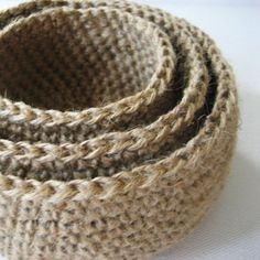 Crochet with Jute Twine | Crochet bowls with jute-just pinning for the picture-yes it's a bad ...