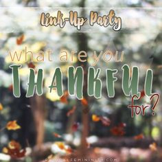 Fancy Counting Your Blessings And A Linkup Party