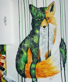 21 year old Artist Jonna Lamminaho residing in Finland, Kemijarvi who creates Astounding Animals Painting Remind Us To Preserve Nature and wild spirit behind Colorful Animal Paintings, Colorful Animals, Desenho Tattoo, Types Of Painting, Watercolor Animals, Beautiful Paintings, Belle Photo, Animals Beautiful, Zentangle