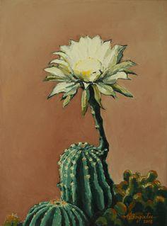 """Saatchi Online Artist Maria Bogatu; Painting, """"white cactus"""" #art"""