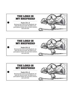 Psalm 23 The Lord Is My Shepherd Bible Bookmarks: The words of Psalm 23 are meant to be read, reread and then read again! Remind your kids to open Psalm 23 when they get home with these the Lord is my shepherd Bible bookmarks.