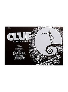 Disney The Nightmare Before Christmas Clue The Classic Mystery Game Exclusive 2016 Fall Halloween, Halloween Party, Halloween Ideas, Up The Movie, Clue Games, Nightmare Before Christmas Shirts, Mystery Games, Jack And Sally, Christmas Games