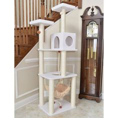 Cat Tree Furniture with Hammock Tree Furniture, Cat Tree, Getting A Kitten, Cat Watch, Cat Towers, Cat Hammock, Kitten Love, Pet Store, Cats