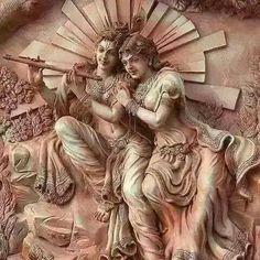Arte Krishna, Krishna Statue, Krishna Hindu, Baby Krishna, Lord Krishna, Lord Ganesha Paintings, Krishna Painting, Mural Painting, Mural Art