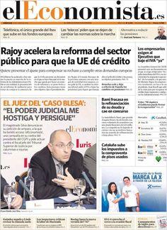 Los Titulares y Portadas de Noticias Destacadas Españolas del 19 de Junio de 2013 del Diario El Economista ¿Que le parecio esta Portada de este Diario Español?
