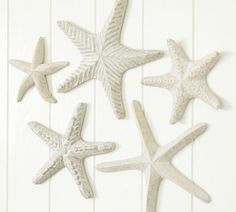 Carved Wood Starfish, Set of 5 | Pottery Barn