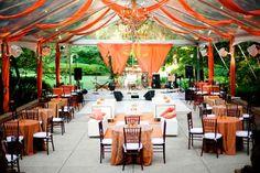 Tendas na decoração de casamento