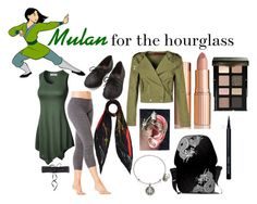 Mulan for the Hourglass figure by custom-chaos on Polyvore featuring Boohoo, Hard Tail, Alex and Ani, Rockins, NLY Accessories, Bobbi Brown Cosmetics, Charlotte Tilbury, women's clothing, women's fashion and women