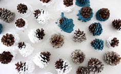 paint-dipped pine cones   MADE