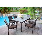 Found it at Wayfair - 7 Piece Dining Set with Cushions
