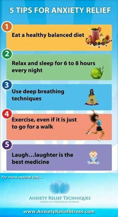 Five tips for anxiety relief.