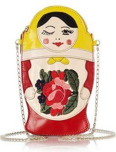 Charlotte Olympia Baboushka Leather Clutch
