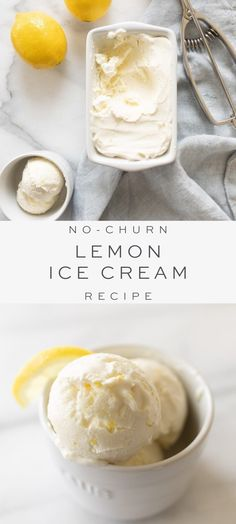 Lemon Ice Cream is a rich, creamy taste of spring. Make this refreshing no-churn Lemon Ice Cream Recipe for a memorable sweet and tart treat you'll love! Ice Cream Deserts, Fruit Ice Cream, Protein Ice Cream, Lemon Ice Cream, Yogurt Ice Cream, Sherbet Recipes, Lemon Recipes, Summer Recipes, Healthy Recipes