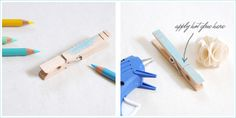 DIY: FancyClothespins - Home - Creature Comforts - daily inspiration, style, diy projects + freebies