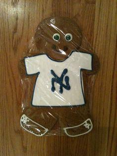 NY Yankees Gingerbread Cookies from Sugar Bakery!