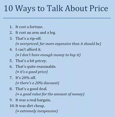 Talking about price