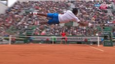 Gael Monfils defied gravity at the French Open