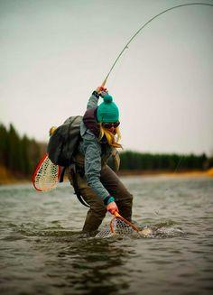 Gone Fishing & Hunting - - Gone Fishing & Hunting Fishing Action Photos Gone Fishing & Hunting Fly Fishing Girls, Fishing Life, Gone Fishing, Best Fishing, Kayak Fishing, Fly Girls, Fishing Shirts, Trout Fishing Tips, Fishing Photography