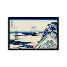 "Asakusa Honganji Temple in the Eastern Capital By Katsushika Hokusai Product Details — Printed With Eco-Friendly Archival Inks  — Handcrafted Frames + Stretchers Made in the USA  — 1.5"" Thick Stretcher Bars  — Museum-Grade Canvas  — Hanging Mounts Included  Colors Multi Materials Giclee Canvas, Wood Frame & Stretcher Bars Measurements 2"" Depth Origin United States"