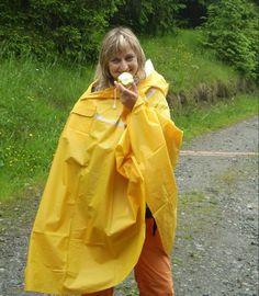 Yellow pvc poncho